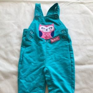 Other - Adjustable overalls with cute owl